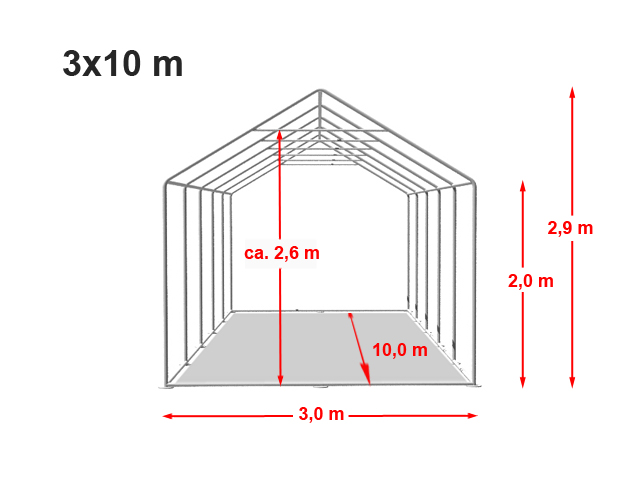 Párty stan Prémium 3x10m