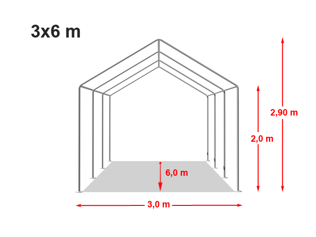 Párty stan ECONOMY 3x6m